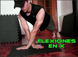 Flexiones en x